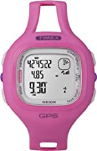 Timex Women's T5K698 Marathon GPS Speed+Distance Pink Resin Strap Watch