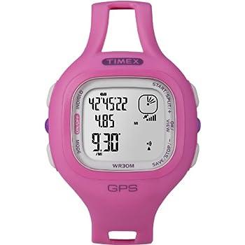 Timex Women's T5K698 Marathon GPS Speed+Distance Pink Resin Strap Watch