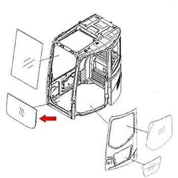 Amazon Com 20y 54 51812 Komatsu Excavator 7 Series Lower Windshield