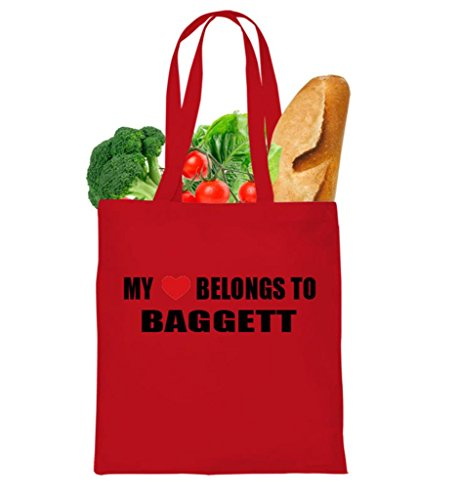MY HEART BELONGS TO BAGGETT FAMILY NAMES Tote Bag