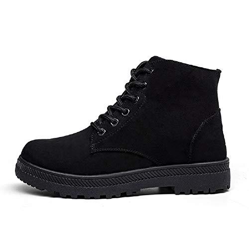 Planos Casual Botines Gris Rojo 43 Negro Zapatos Ante Botas 5cm Negro Fur 35 Altas Tobillo Mujer Tacon 2 Cordones Nieve Invierno Calientes de Ancho Azul rtwqatH