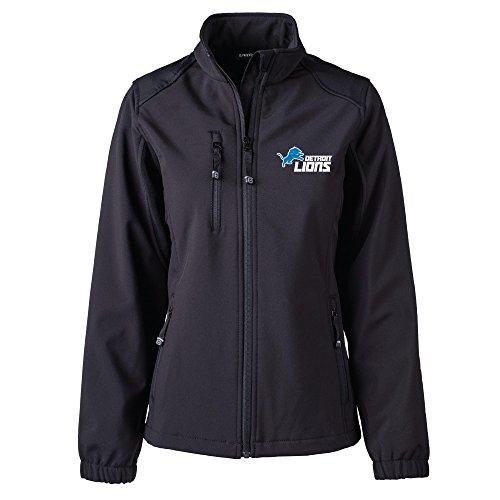Dunbrooke Apparel NFL Detroit Lions Women's Softshell Jacket, Large, Black by Dunbrooke Apparel