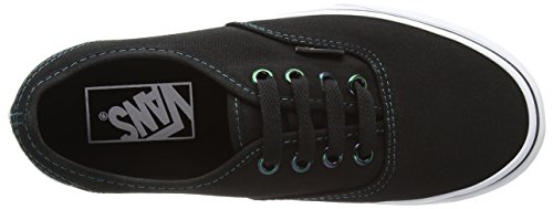 Vans Authentic, Zapatillas de skateboarding Unisex Negro (Iridescent Eyelets - Black/Multi)
