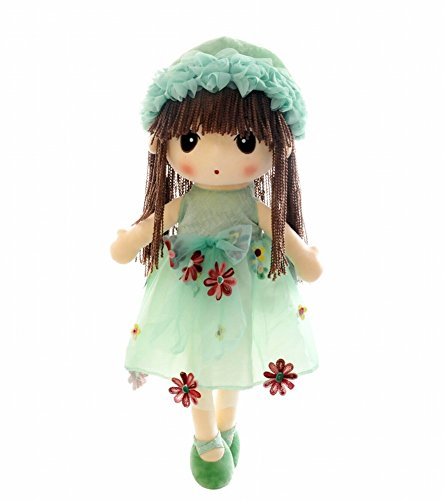 HWD Kawaii Flower Fairy Stuffed Soft Plush Toy Doll Girls Gift , 18 Inch ( Green ) (Doll Plush Fairy)