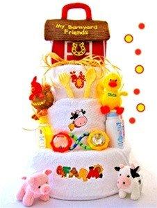 Barnyard Baby Diaper Cake (Barnyard & Friends Neutral Diaper)