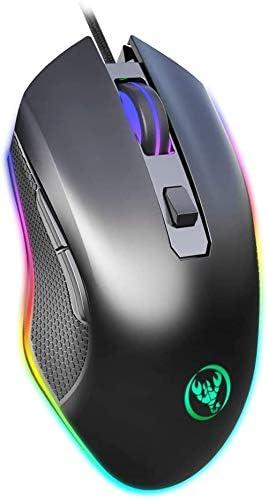 有線ゲーミングマウス、RGBのPCのコンピュータに適した、6400 DPI、USBインターフェースに4速調節可能なアップを照射し、laptoLI、ゲーマー