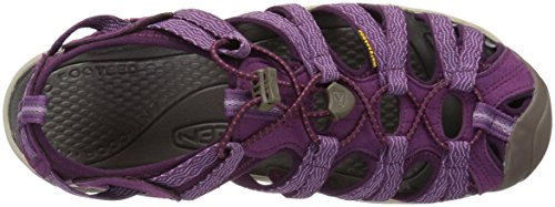 Morado Wine Mujer Whisper Sandalias Grape Senderismo Kiss de Keen Grape 0 para qYvxAyX