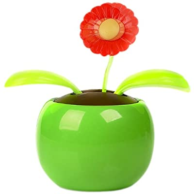 Solar Flower Toy: Solar Power Flower - Colours Vary: Toys & Games