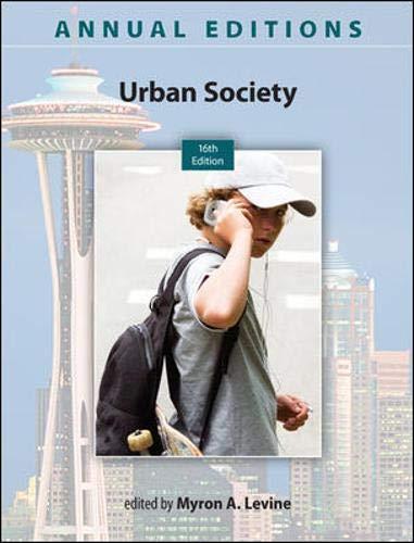 Annual Editions: Urban Society, 16/e