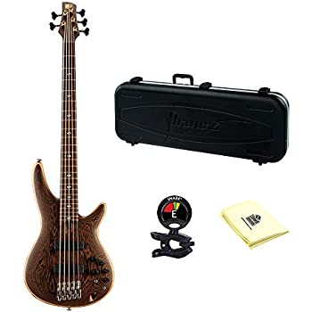 ibanez prestige sr5005 5 string electric bass guitar in natural finish hardshell. Black Bedroom Furniture Sets. Home Design Ideas
