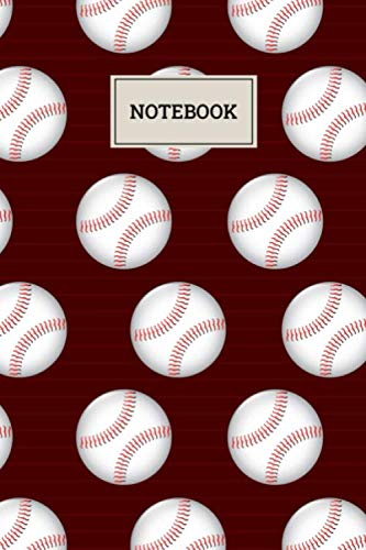 Notebook: Baseball Ball Pattern Blank Lined Journal To Write In For Notes, Ideas, Diary, To-Do Lists, Notepad - Baseball Gifts For Baseball Lovers, ... Men, Women, Teens And Kids Who Love Baseball