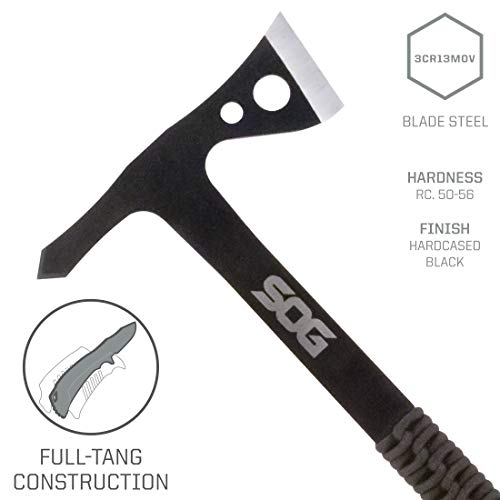 SOG Tomahawk Pack of 3 - Throwing Hawks Throwing Axe Set and Full Tang Tactical Hatchet Pack w/ 1.75 Inch Blades and Camping Axe Sheath (TH1001-CP) by SOG Specialty Knives (Image #2)