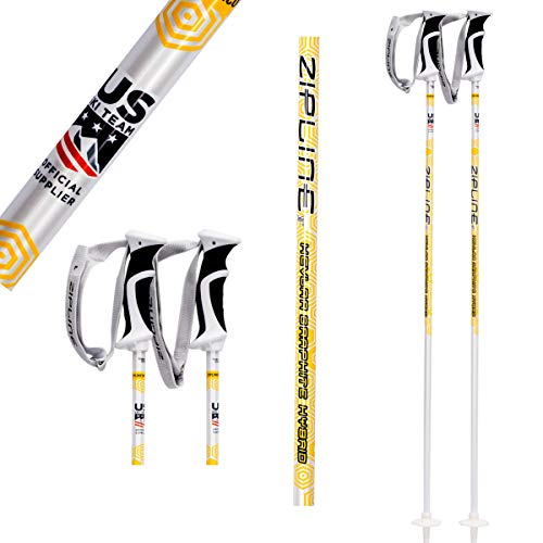 (Zipline Ski Poles Kevlar Graphite Hybrid Composite Podium 14.0 K U.S. Freestyle Ski Team Official Ski Pole (50