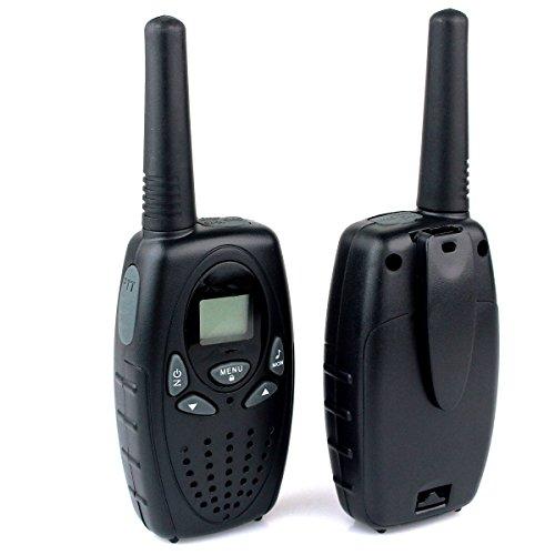 Electro-Weideworld, [Une paire] 8 Canaux Talkie Walkie 400-470MHZ 2-Way Radio Gamme de 3 kilomètres Interphone pour en contact avec enfants copins etc (Noir)