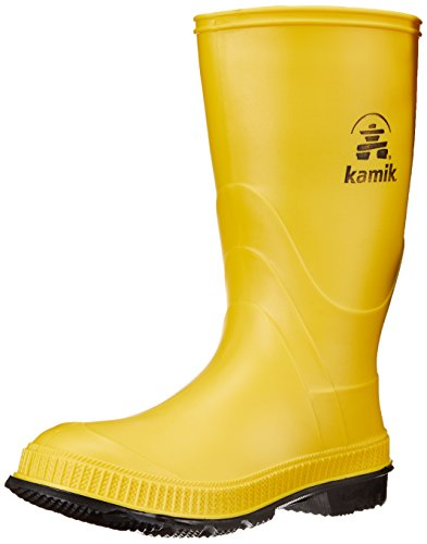 Kamik STOMP/KIDS/PUR/4149F Rain Boot Yellow/Black,1 M US Little -
