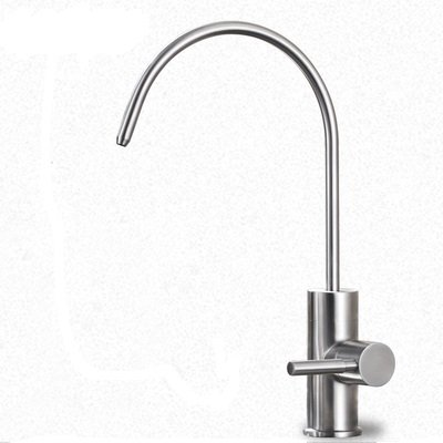 Cold Filtration Faucet (Senlesen Lead Free Beverage Faucet Drinking Water Filtration System 1/4-Inch Tube Cold Water Only, Brushed Stainless)