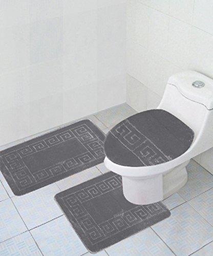 3 Piece Bath Rug Set Pattern Bathroom Rug (20