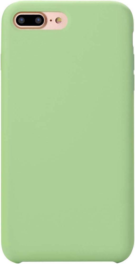 MUNDULEA Compatible iPhone SE 2020 /iPhone 7/iPhone 8 4.7 inch Case,Liquid Silicone Rubber Soft Microfiber Protective Cover Compatible iPhone 7/iPhone 8/SE 2 (Matcha Green)