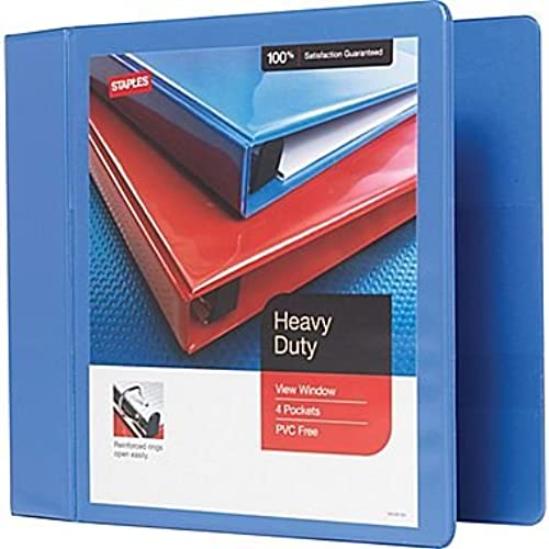 on sale staples 4 inch heavy duty slant d ring view binder