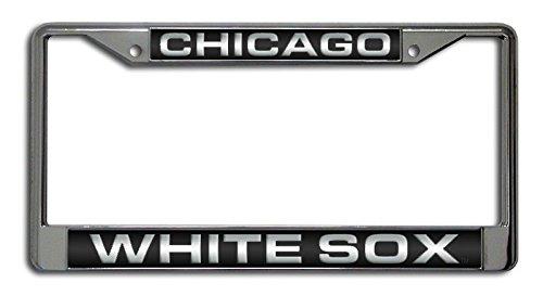 MLB Chicago White Sox Laser-Cut Chrome License Plate Frame