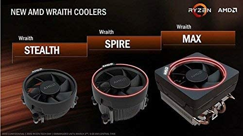 AMD Wraith Stealth Socket AM4 4-Pin Conector CPU Cooler con ...