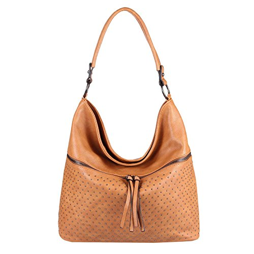 OBC Only-Beautiful-Couture - Bolso al hombro para mujer Rosa Rosa. ca.: 42x34x12 cm (BxHxT) Cognac 40x32x15 cm