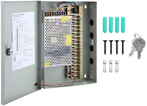 Orihat Caja de alimentación para cámara de Seguridad de 18 Canales, 12 V CC, Buena Capacidad de Carga, centralizada, Fuente de alimentación CCTV, Caja de Interruptor, 20 A: Amazon.es: Hogar