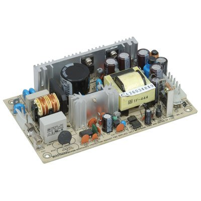Mean Well PT-45B Open-Frame Switching AC-to-DC Power Supply, Triple Output, 42.6W, 1.1