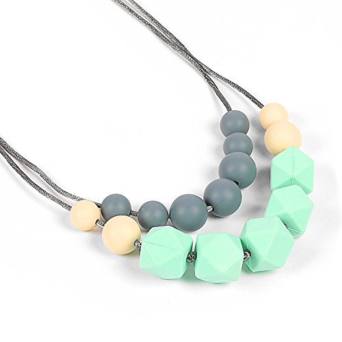 Silicone Teething Necklace Colorful BPA Free