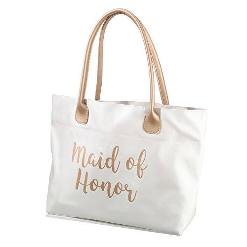 Lillian Rose Gold Maid of Honor Tote Bag (Of Maid Honor Tote)