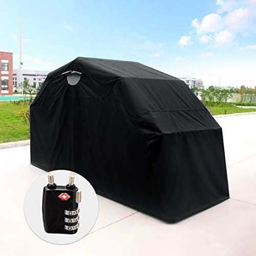 Quictent Heavy Duty Motorcycle Shelter Tourer Cover Storage Garage Tent with TSA Code Lock & Carry Bag (Large Size) (Cover Motorcycle Winter)