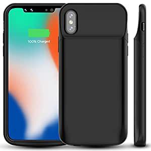 iphone x battery case alleasa 6000mah. Black Bedroom Furniture Sets. Home Design Ideas