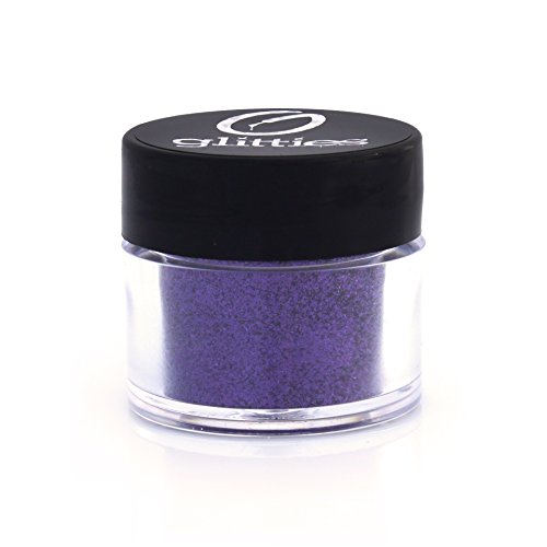GLITTIES COSMETICS Extra Fine Glitter Powder-Make Up Body Face Hair Lips & Nails-(Purple Essence)