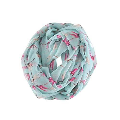Women Square Scarf, SUKEQ Bali Skull Scarf Dragonfly Pattern Voile Wrap Shawl Infinity Scarf (Style Dragonfly Pattern)