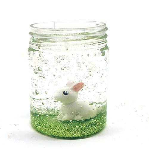 HiGOGO Cute Crystal Rabbit Cows Colour Mud Mixing Cloud Slime - Great Stress Reliever - Putty Scented Stress Kids Decompression Clay Toy (80ml ()