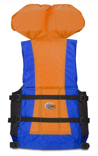 MTI Adventurewear Canyon V Rafting PFD (Blue/Orange, Large/X-Large)