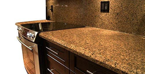 Instant Peel and Stick Self Adhesive Vinyl Laminate Counter Top Contact Paper Faux Venetian Gold Granite Counter Top Film 36