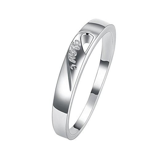 Adisaer Womens Gold Plated Rings Silver Engraved