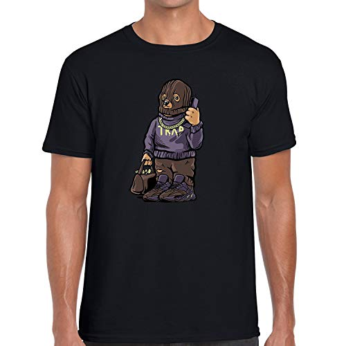 Fashionista Printed T Shirt Matching Yeezy Boost Mauve 700 Trap Bear Black Medium