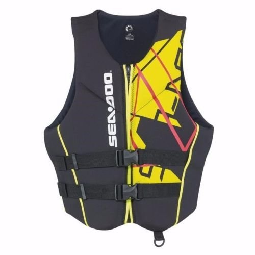 NEW SEA-DOO Freedom PFD Men's Size XL Life Vest 2858641210 Black/Yellow by Sea-Doo
