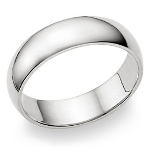 6MM Sterling Silver High Polish Plain Dome Tarnish Resistant Comfort Fit Wedding Band Ring Metal Factory