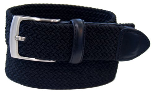 Dockers Men's  1 3/8 in. Braided Canvas Web Belt,Black,32 (Belt Dockers Black)