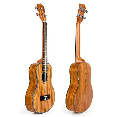 Travel Ukulele Tenor Thin Body 26 inch Zebra Ukelele Uke Hawaii Guitar 18 Fret