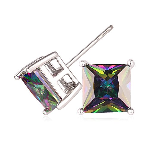 U7 Earrings Platinum Zirconia Earring