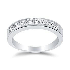 1//5 Cttw Sonia Jewels 925 Sterling Silver Mens Round Diamond Micropave Flat Wedding Anniversary Band Ring