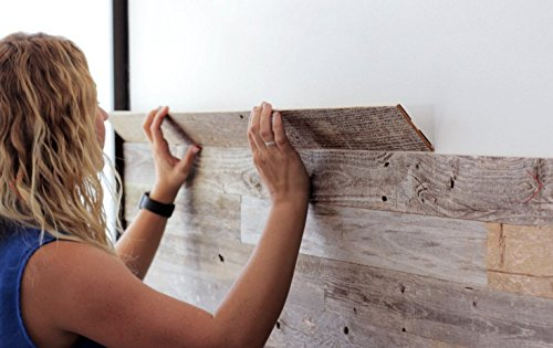 Amazon.com: Reclaimed Barn Wood Wall Panels - DIY Peel and Stick Easy  Installation, 10 Sq Ft: Home & Kitchen - Amazon.com: Reclaimed Barn Wood Wall Panels - DIY Peel And Stick