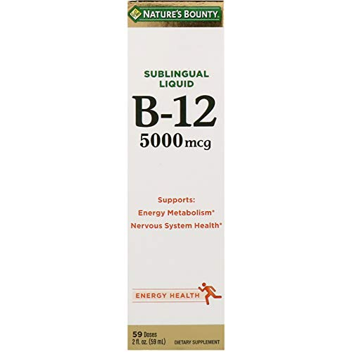 Nature s Bounty, Super Strength B-12, 5000mcg, 2 Oz Pack of 2