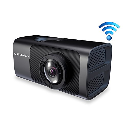 AUTO-VOX D7 WiFi Dash Cam, Dash Camera with GPS FHD 1080P Night Vision Car Dashboard Camera Driving Recorder with 165 Wide Angle, G-Sensor