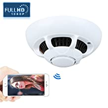 Hidden Smoke Camera, Kolis Wifi Wireless Internet Spy Camera with Motion Activated Video and Audio Recorder Indoor DV Camcorder for Smartphone APP Home Security & Surveillance