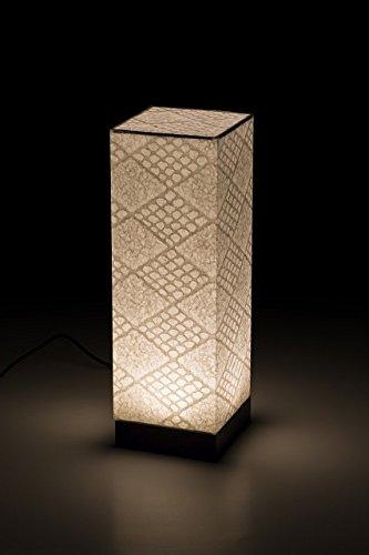 モダン提灯 四角行灯 手漉き和紙 市松 LED コンセント/乾電池両用 B01HGHUA4U